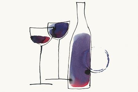 Ilustracija za prvo letošnjo naslovnico revije vino. Risala Anita Lozar.
