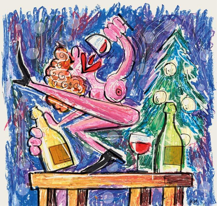 Ilustracija (oljni pasteli, flomastri in malce fotošopa) za članek v reviji Vino. Konkreten kontekst najdete tam. Kmalu.